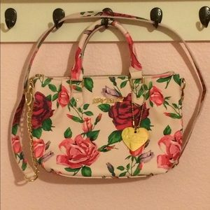 Betsey Johnson Light Pink Floral Purse